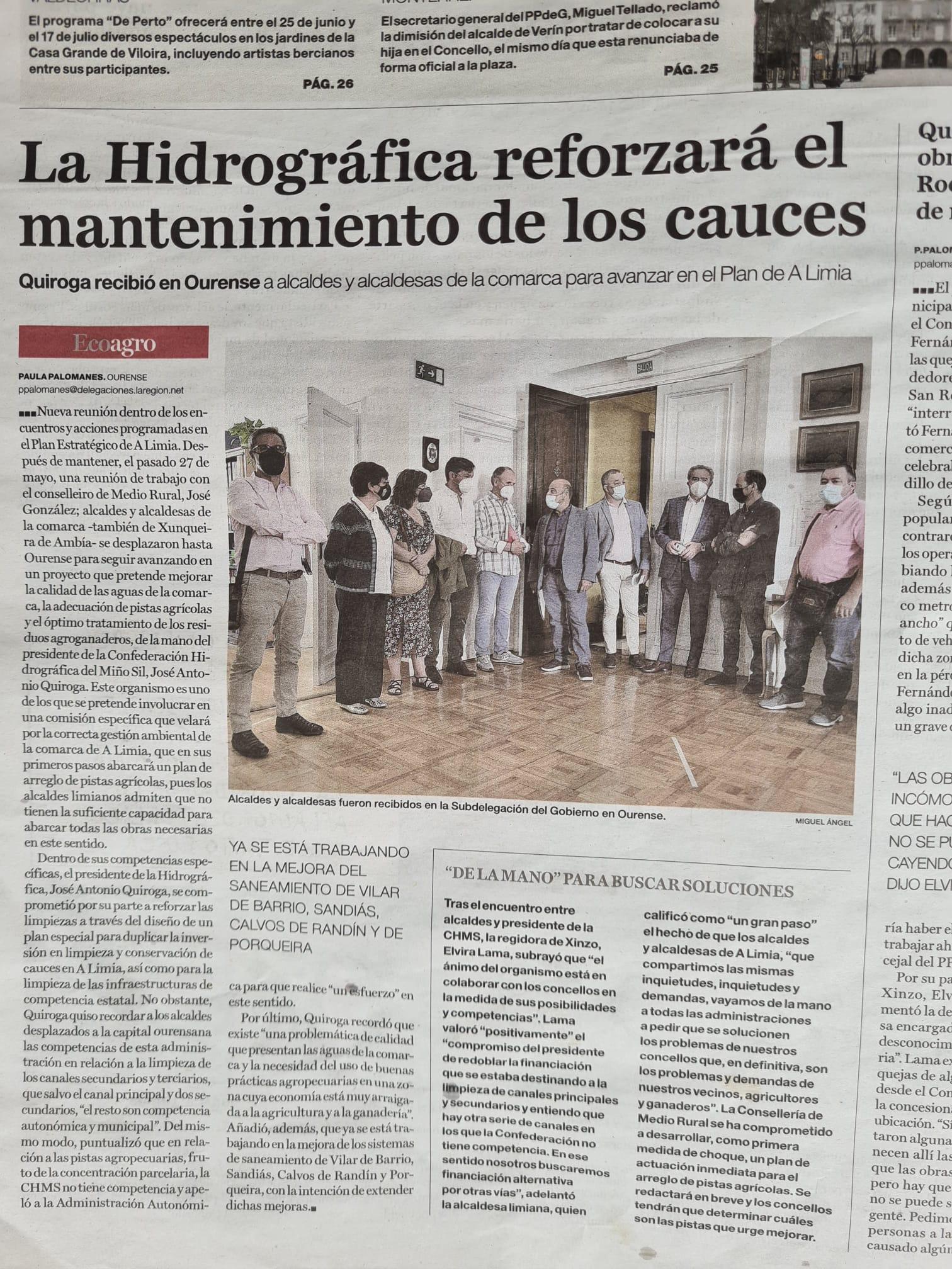 A  Confederación Hidrográfica comprométese a investir no saneamento de Arnuide